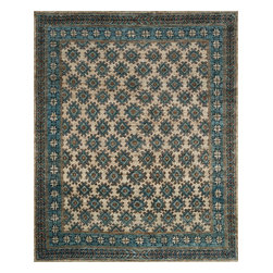 """Loloi Rugs - Loloi Rugs Nomad Collection - Beige/Ocean, 2'-0"""" x 3'-0"""" - Featuring rich colors, ethnic patterns, and an earthy 100% jute fiber, the Nomad Collection from India pays homage to tribal design while updating the look for today's interiors. The thick, hand-knotted pile and bold design make for an eye-catching centerpiece in any room."""
