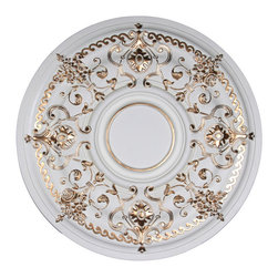 uDecor - MD-9179-WG Ceiling Medallion - Ceiling medallions and domes are manufactured with a dense architectural polyurethane compound (not Styrofoam) that allows it to be semi-flexible and 100% waterproof. This material is delivered pre-primed for paint. It is installed with architectural adhesive and/or finish nails. It can also be finished with caulk, spackle and your choice of paint, just like wood or MDF. A major advantage of polyurethane is that it will not expand, constrict or warp over time with changes in temperature or humidity. It's safe to install in rooms with the presence of moisture like bathrooms and kitchens. This product will not encourage the growth of mold or mildew, and it will never rot.