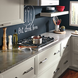 Grey Cabinets in Casual Kitchen - Kitchen Craft Cabinetry -