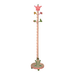 Teamson Design - Teamson Kids Princess and Frog Crown Hand Painted Standing Coat Rack - Teamson Design - Clothes Trees - W7491A. A New addition to our Princess and Frog Collection this Coat Tree adds a great feel of both usability and grace to any little girls room.