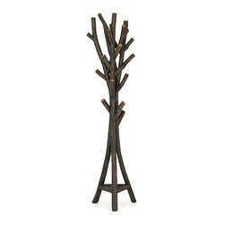 Rustic Hall Tree #5060 in Ebony Finish by La Lune Collection - Rustic Hall Tree #5060 in Ebony Finish by La Lune Collection