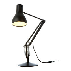 Anglepoise - Type 75 Desk Lamp - Black - Anglepoise - For over 70 years, Anglepoise has created table lamps and table lights that are now British design classics. This version of the Type 75 was designed by Kenneth Grange and with its broad range of movement and classic looks it will suit a wide range of uses from reading in your arm chair to working at your desk. Perfect in either the home or the office.