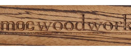 "M.O.C. Board Zebrawood - 12"" Zebrawood Back of Magnetic knife strip"