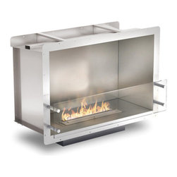 EcoSmart Fire - EcoSmart Fire Firebox 800SS - The zero clearance, bioethanol fuelled Firebox 800SS is an elegant solution for rooms where space is at a premium.