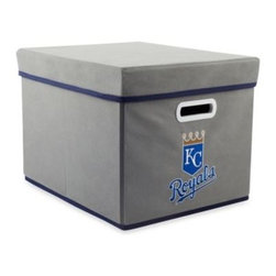 Owner's Box, Llc - MLB Kansas City Royals Fabric Storage Cube with Cover - Keep your home or office organized with these stackable cubes. These cubes come with covers and are designed to fit both letter and legal sized file folders. Perfect for any room, these cubes feature the logo of your favorite MLB team.