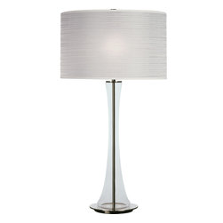 Robert Abbey - Kate Table Lamp, Clear Glass/White - -1 - 150W Max.