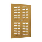 """Bass Wood and Faux Wood 2 1/4"""" Movable Louver Shutter Kits - Shutter Kits coming soon to Houzz by ShutterShack.com"""