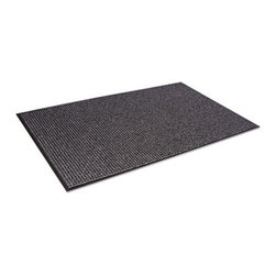 Crown - Crown Oxford Wiper Mat, 36 x 60, Black/Gray - Beautifully designed a combination of performance and appearance like no other wiper! An elegant solution for a good first impression. High performance mat retains water and minimizes the risk of slips and falls. Heavyweight loop pile mat that exceeds performance. Attractive pattern hides dirt and keeps your entrances clean. Thermoflex vinyl backing offers superior floor protection. Use in indoor medium to heavy traffic areas.