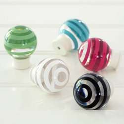 Simple Stripe Knobs - These knobs are cool and unique. I love all the different colors too.