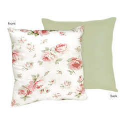 Sweet Jojo Designs - Rileys Roses Decorative Accent Throw Pillow by Sweet Jojo Designs - The Rileys Roses Decorative Accent Throw Pillow by Sweet Jojo Designs, along with the  bedding accessories.