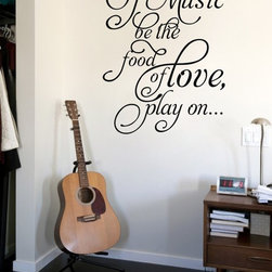 ColorfulHall Co., LTD - Window Decals If Music Be The Food Of Love Play On - Window Decals If Music Be The Food Of Love Play on