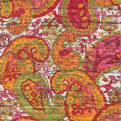 "Loloi Rugs - Loloi Rugs Aria Collection - Green / Multi, 3'-0"" x 3' Round - Expressive and relaxed, stylish and fun. The Aria Collection from India has it all. Pretty paisley patterns, flourishing flowers, dreamy damasks and magical medallion designs are printed onto 100% recycled cotton Chindi for scatter rugs that are flirty and fashionable. Dressed in a palette of bold, saturated colors that take you from cool blues and pinks to warm spice tones and modern tropical hues, too, Aria rugs come in select scatter sizes that will accent choice spaces with flair."