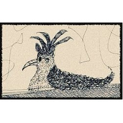 Home Infatuation - Pencil Chicken Design Outdoor Rug - This indoor/outdoor area rug is derived from the imaginative series of original art work created by artist David Milliken. Elements from the paintings are extracted to create whimsical, humorous and abstract decorative solutions for both indoors and outside.