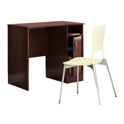 South Shore - South Shore Axess Small Desk in Royal Cherry - South Shore - Computer Desks - 7246075 - Need to tidy up your home office? This Axess collection small desk is perfect for all your storage needs, even in tight spaces! Its compact design includes all the space you need for a well-organized workspace thanks to its storage spaces. In addition, the work surface is great.