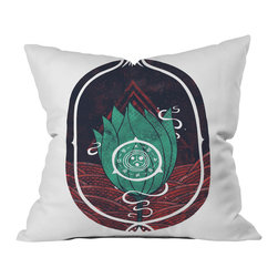 DENY Designs - DENY Designs Hector Mansilla Pulsatilla Patens Throw Pillow - Wanna transform a serious room into a fun, inviting space? Looking to complete a room full of solids with a unique print? Need to add a pop of color to your dull, lackluster space? Accomplish all of the above with one simple, yet powerful home accessory we like to call the DENY throw pillow collection! Custom printed in the USA for every order.