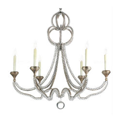 Country Yoke Metal and Crystal Chandelier - Country Yoke Metal and Crystal Chandelier