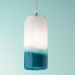 Blues Art Glass Pendant Light -