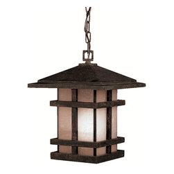 Kichler Lighting - Kichler Lighting 9829AGZ Cross Creek 1 Light Outdoor Pendants/Chandeliers in Age - Outdoor Pendant 1Lt
