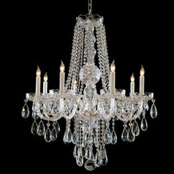 Crystorama Lighting Group - Traditional Crystal Swarovski Strass Crystal Polished Chrome Eight-Light Chandel - Traditional crystal chandeliers are classic timeless and elegant. Crystorama's opulent glass arm chandeliers are nothing short of spectacular. This collection is offered in a variety of crystal grades to fit any budget. For a touch of class order this collection in Gold for traditionalists or in Chrome to match your contemporary or transitional decor.  -Primary Material: Steel  -Crystal: Swarovski Strass  -Chain or Rod Length: 36inches  -Wire Length: 72inches Crystorama Lighting Group - 1108-CH-CL-S