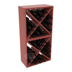 "Wine Racks America - 48 Bottle Wine Cube Collection in Ponderosa Pine, Cherry Stain + Satin Finish - Two versatile 24 bottle wine cubes. Perfect for nooks, crannies, and converting that ""underneath"" space into wine storage. Mix and match finishes for a modern wine rack twist. Popular for its quick and easy assembly, this wine rack kit is a perfect storage solution for beginners and experts."