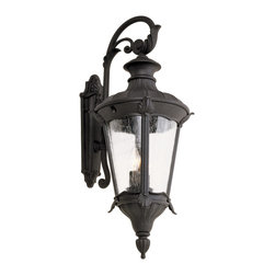 """Trans Globe Lighting - Trans Globe Lighting 40162 BK Imperial Leaf 29"""" Carriage Lantern - Build your empire lantern by lantern with this outdoor series exquisite in Roman Greek appeal. Rich with leaf and feather adornments, clear seeded glass softens shadows across natural landscaping."""