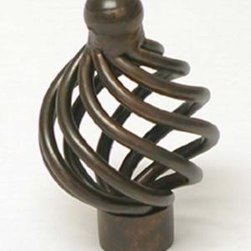 Top_Knobs - Top Knobs - Flower Twist Knob 1 1/4 Inch - Oil Rubbed Bronze - M778 - Normandy, Nouveau III Collection, Steel Base Material,  Weight: 0.1 Lbs