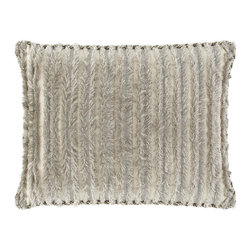 """Dian Austin Couture Home - Standard """"Eyelash"""" Sham with Cording - PEWTER (STANDARD) - Dian Austin Couture HomeStandard """"Eyelash"""" Sham with CordingDetailsMade of polyester/viscose.Dry clean.26"""" x 20"""".Handcrafted in the USA of imported materials.Designer About Dian Austin Couture Home:Taking inspiration from fashion's most famous houses of haute couture the Dian Austin Couture Home collection features luxurious bed linens and window treatments with a high level of attention to detail. Acclaimed home designer Dian Austin introduced the collection in 2006 and seeks out extraordinary textiles from around the world crafting each piece with local California artisans."""