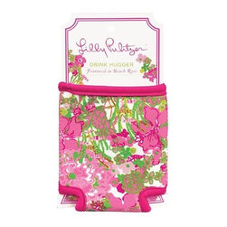Lilly Pulitzer - Lilly Pulitzer Drink Hugger, Beach Rose - Keep your can cool through happy hour with an eclectic Lilly Pulitzer Beverage Hugger. A perfect beach or backyard companion, this designer beverage sleeve is made with durable neoprene to keep drinks cooler longer than your average beverage sleeve. Works as a bottle sleeve and a can sleeve.