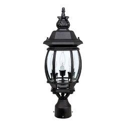 Capital Lighting - Capital Lighting 9865BK French Country Black Outdoor Post Light - Capital Lighting 9865BK French Country Black Outdoor Post Light