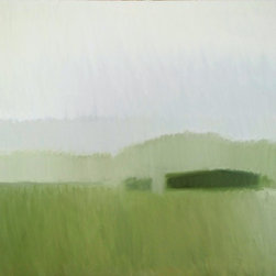 """Misty Field"" Artwork - Eastern Shore of Maryland field in a misty rain"""