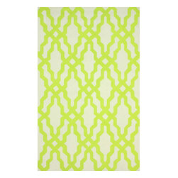 """nuLOOM - Contemporary 7' 6"""" x 9' 6"""" Green Hand Hooked Area Rug Trellis HK78 - Made from the finest materials in the world and with the uttermost care, our rugs are a great addition to your home."""