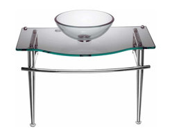 Renovators Supply - Glass Sinks Clear Glass Little Lagoon Child Glass Wall Mount Sink | 12910 - Faucet not included--check our huge selection. Counter 27 1/2 inch wide x 14 3/4 inch projection Bowl 12 1/8 inch in diameter x 4 inch deep.