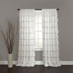 Shop White Ruffle Shower Curtain Floors Windows Amp Doors