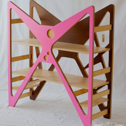 Modern Children Bookshelf By Tot Republic - This striking, modern bookshelf design would definitely make a statement. There are a lot of color combinations to choose from too.