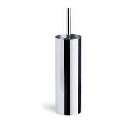 Blomus - Duo Toilet Brush, Polished - The Duo Toilet Brush keeps your bathroom current with its sleek, stainless steel finish. The holding bucket and mounting stand provides sturdy, minimal storage, making this pair an irresistible addition to your modern bathroom.
