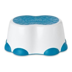 Bumbo - Bumbo Step Stool in Blue - This adorable step stool resembles an elephant's foot and is designed to help toddlers take their first steps toward independence. The slip-resistant surface provides stability while your little one reaches for the sink or toilet.