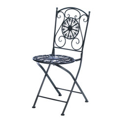 Gifts Galore - Fleur-De-Lis Patio Chair - Have a seat and enjoy your great backyard or patio with this lovely cast iron chair.  It features a fleur-de-lis design seat and matching backrest with fanciful curls.  Chair Only.