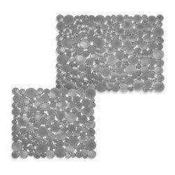 Interdesign - interDesign Bubbli Sink Mats in Graphite - Bubbli graphite sink mat has a unique design of textured bubbles. Sinks mats help keep items from scratching your sink.