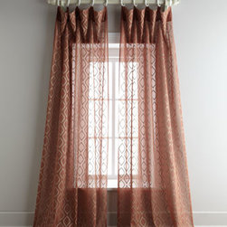 """Horchow - Each 108""""L Blaze Organdy Sheer - Embroidered cotton organdy sheers in your choice of three shades. Each curtain has a 4"""" rod pocket with 2"""" header as well as back tabs. Select color when ordering. Each curtain is approximately 50""""W. Dry clean. Imported."""