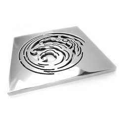 "Designer Drains - Nami Shower Drain, Polished Stainless Steel - Polished Stainless Steel drain made to fit Ebbe drain roughs E4400. This Designer Drain measures 5/32"" thick x 3 3/4"" Square "". Made in U.S.A."