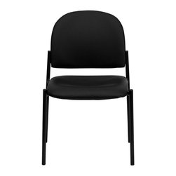 Flash Furniture - Flash Furniture Stackable Side Chair in Black - Flash Furniture - Stacking Chairs - BT5151VINYLGG - Complete your office or reception area with this stacking side chair by Flash Furniture. The comfortably padded seat and back are provided to make your guests feel at ease while waiting. The steel frame of this chair is strong enough to last for years of use. [BT-515-1-VINYL-GG]
