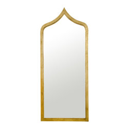 Worlds Away - Worlds Away Gold Leaf Iron Morrocan Mirror ADINA G - Morrocan style Gold leaf iron mirror. Mirrored insert non antiqued.