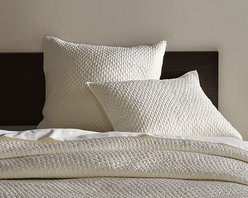 Lexington Quilt + Shams - Textural chic for the bed, garment washed for über-luxe softness.