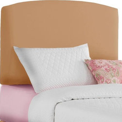 Home Decorators Collection - Custom Jude Upholstered Headboard - Our Custom Jude Upholstered Headboard offers soft comfort and streamlined style for your child's bed. With its rounded rectangular shape and gentle top arch, this kids bed headboard will integrate seamlessly with any decor. Customize it with your choice of fabric to complement your bed linens. For an additional cost, you can also add an embroidered name of up to 10 characters. Solid pine frame with metal legs and polyester fill. Easily attaches to any standard bed frame with included hardware. Can be personalized with up to 10 characters in white thread for an additional cost. Choose script or block text. White fabrics cannot be personalized. Spot clean only. Hand assembled in the USA and delivered in 2-4 weeks.