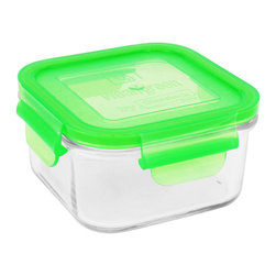 Wean Green - Wean Green Lunch Cube, Pea - What's the best way to store small leftovers from dinner? What's the best option for packaging a sandwich for lunch? What Container can be used for freezing foods, and which Container truly is microwave safe?