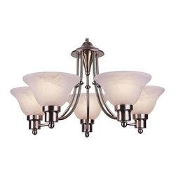 Trans Globe Lighting - Trans Globe Lighting 6545 BN Chandelier In Brushed Nickel - Part Number: 6545 BN