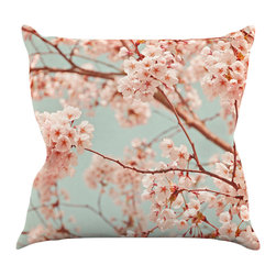 "Kess InHouse - Iris Lehnhardt ""Blossoms All Over"" Flowers Throw Pillow (26"" x 26"") - Rest among the art you love. Transform your hang out room into a hip gallery, that's also comfortable. With this pillow you can create an environment that reflects your unique style. It's amazing what a throw pillow can do to complete a room. (Kess InHouse is not responsible for pillow fighting that may occur as the result of creative stimulation)."