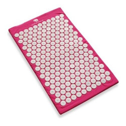 Bed Of Nails - Bed of Nails Acupressure Mat in Pink - Inspired by ancient Indian healing tradition, Bed of Nails is a thin mattress covered by 100% non-toxic plastic nails. 8,820 acupressure-point nails apply pressure to your back to help promote relaxation and well-being.
