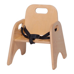 """Steffywood - Steffywood 7"""" Kids Indoor Classroom Playroom School Stackable Chair With Strap - Our stackable toddler chair is constructed of all birch panels.  Dado construction with glue and screws.  Handle cutouts and strap."""