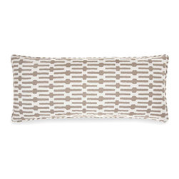Pine Cone Hill - links taupe pillow (15x35) - Exciting horizontal stripes make this pillow a fun and modern accent. Includes zipper cosure and feather insert.��This item comes in��taupe.��This item size is��35w 15h.